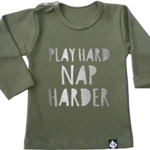 baby tshirt groen play hard