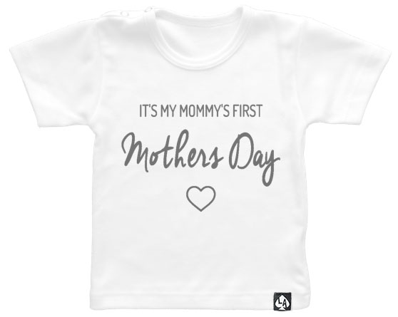 baby tshirt first mothersday wit