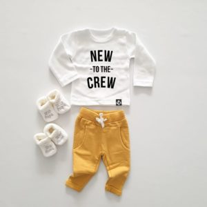 baby outfit new to the crew