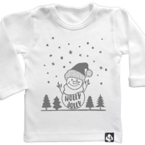baby tshirt specials kerst foute kersttrui 2.0 wit