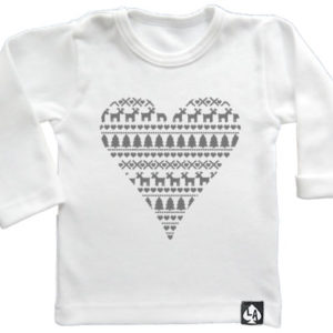 baby tshirt specials kerst heart wit