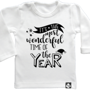 baby tshirt specials kerst wonderful time wit
