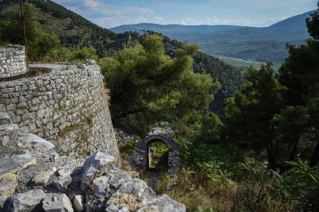 Albania Berat fortress tower