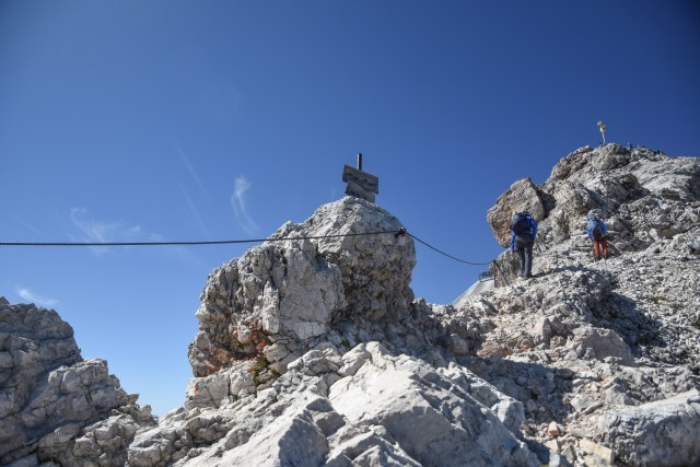 Germany Zugspitze Summit Approach