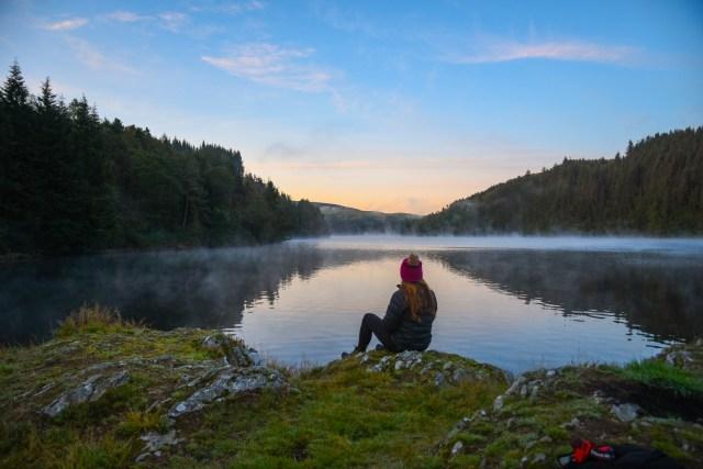Wales Sunrise Lake Lisa