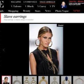 VOGUE ITALIA AND THE SLAVE EARRINGS SCANDAL