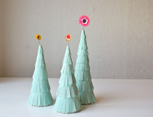 papier mache christmas tree diy
