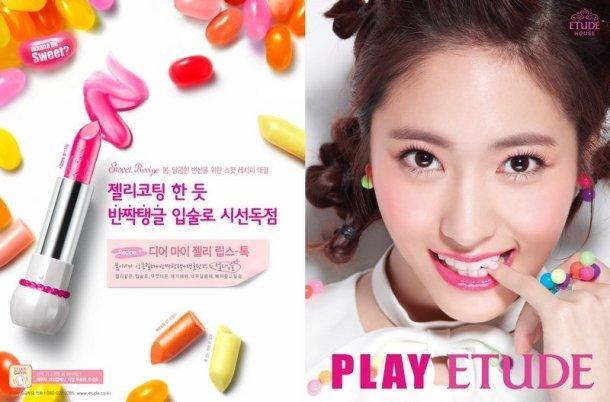 korean cosmetics etude deary my jelly lipstick