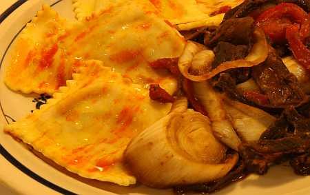raviolis and cepes