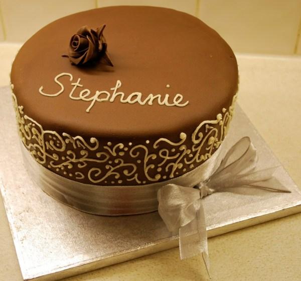 Simple Decorated Chocolate Cake - Little Bear Cakery