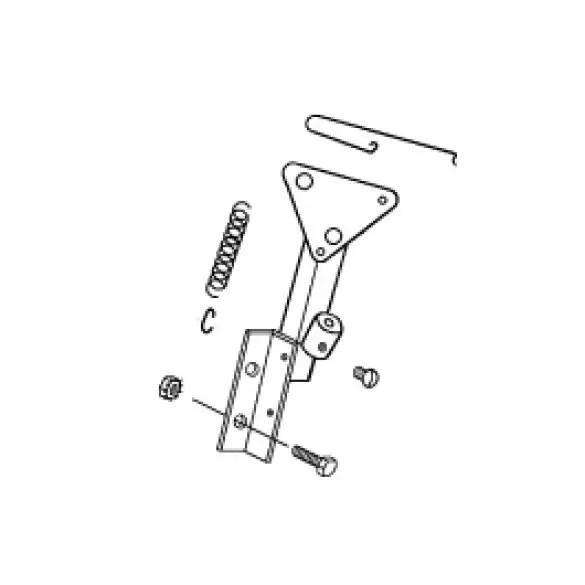 Throttle Bracket Assembly, 5.5 HP B&S Vanguard Engine