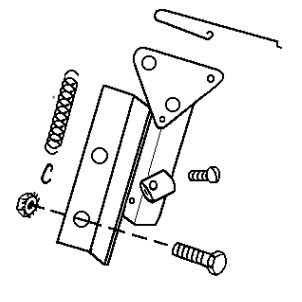 Throttle Bracket Assembly, (5 HP Wisconsin WI-185 or Honda