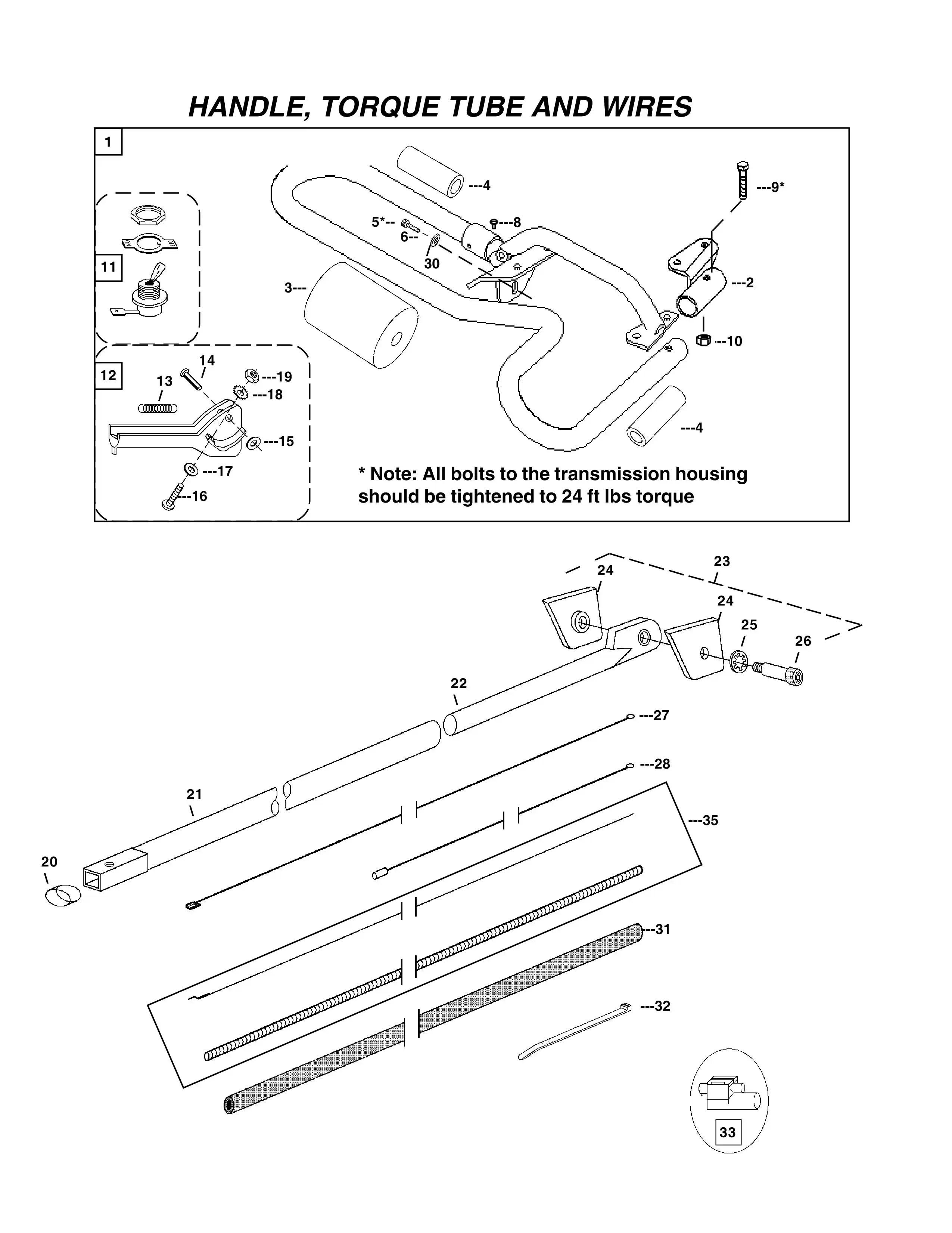Handle Torque Tube Amp Wires