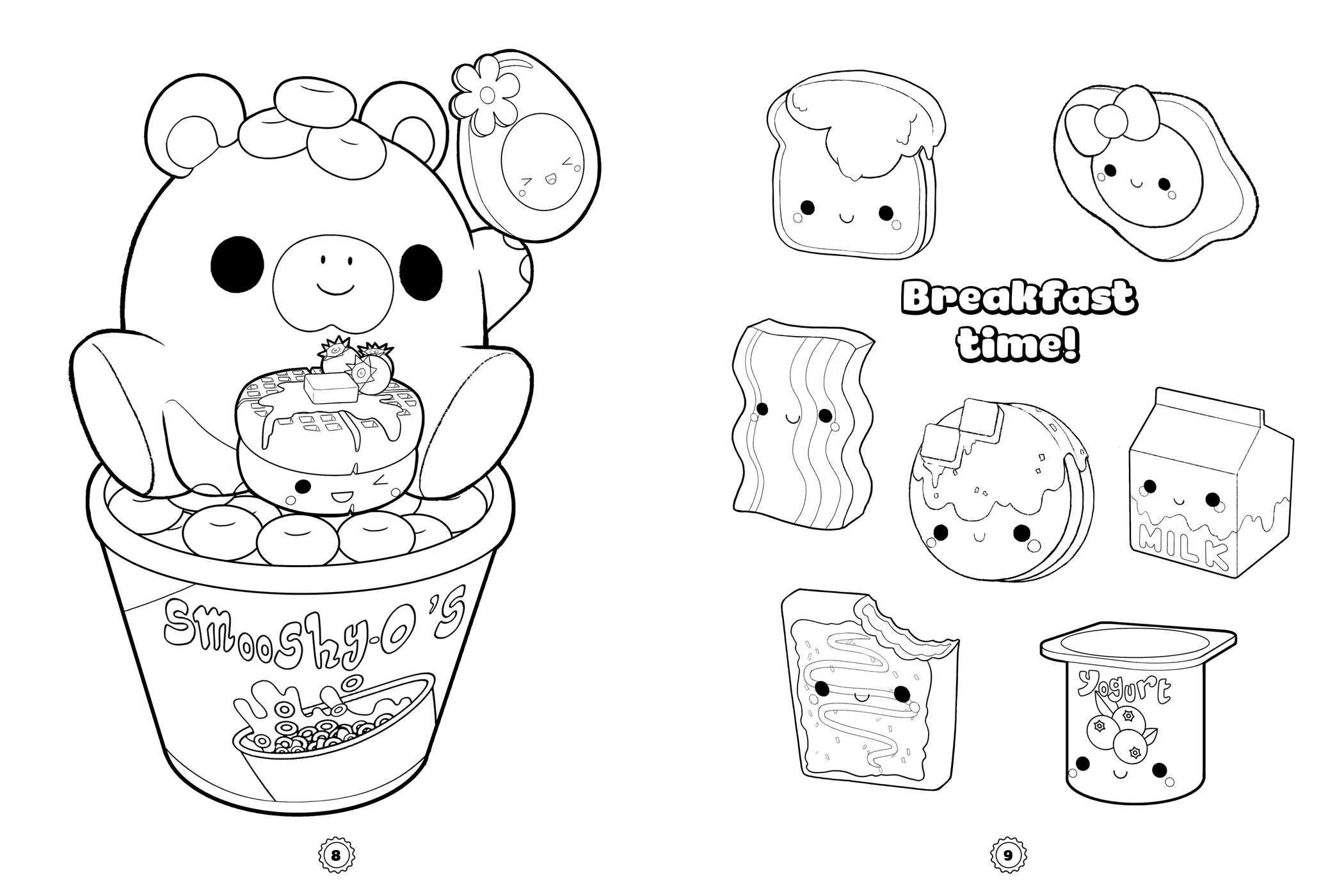 Smooshy Mushy: Cutie Pie Coloring and Sticker Book