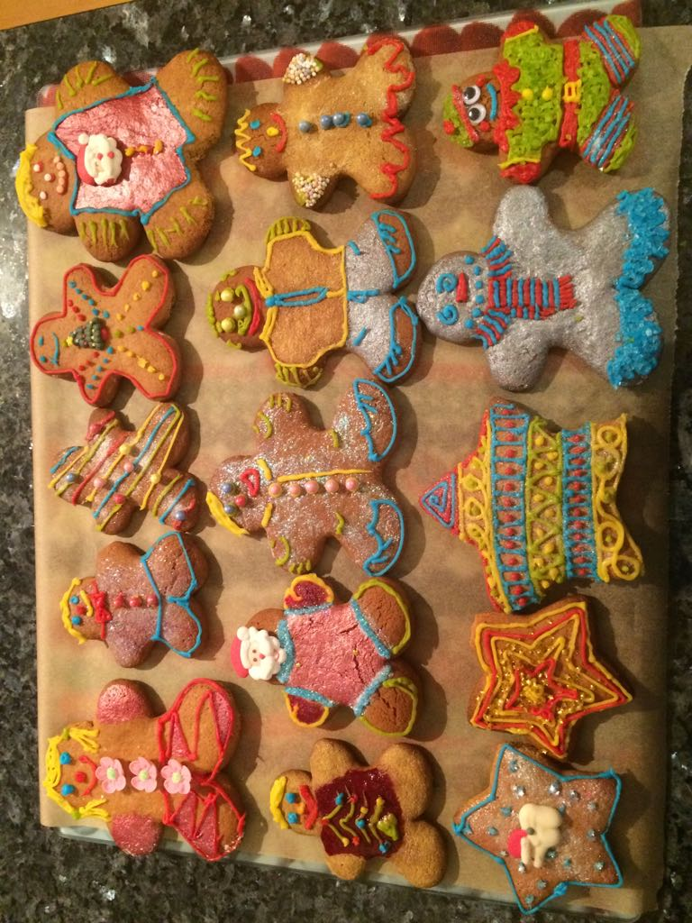 colourful decorated gingerbreadmen cookies