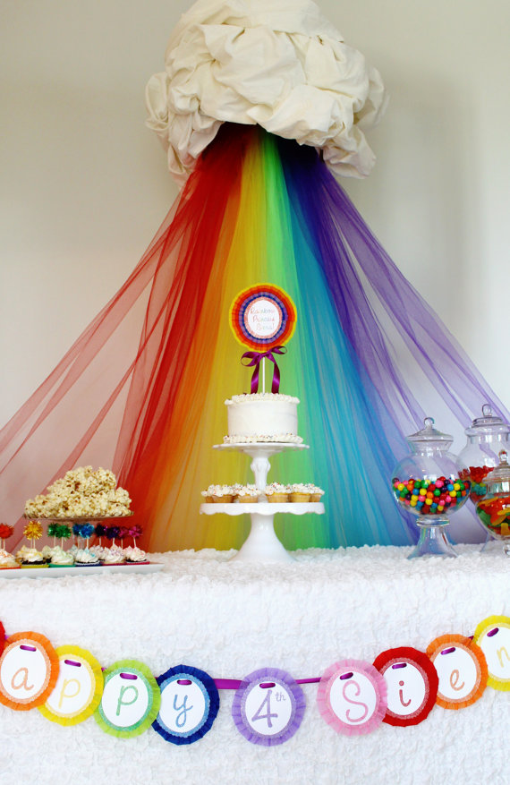 Rainbow Birthday Party Ideas  Little Us