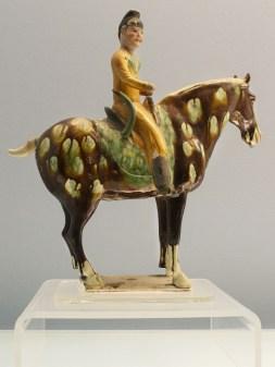 Porzellanreiter aus der Tang-Dynastie (618-907), Shanghai Museum