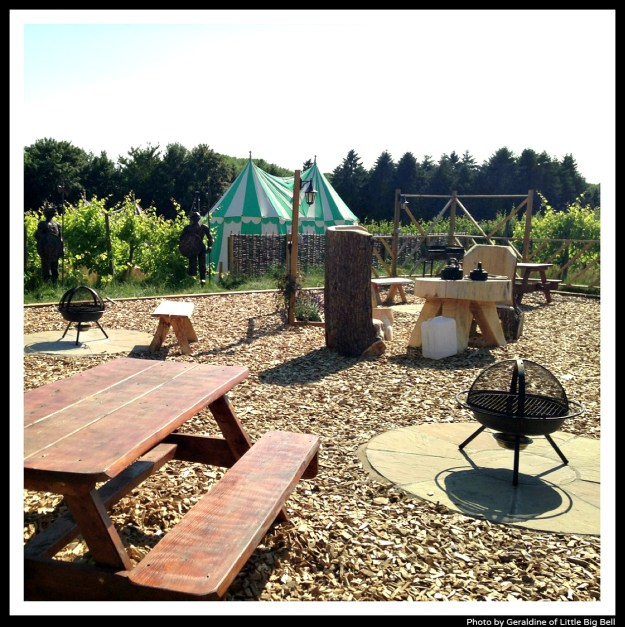 Glamping-Leeds-castle-barbecue-area