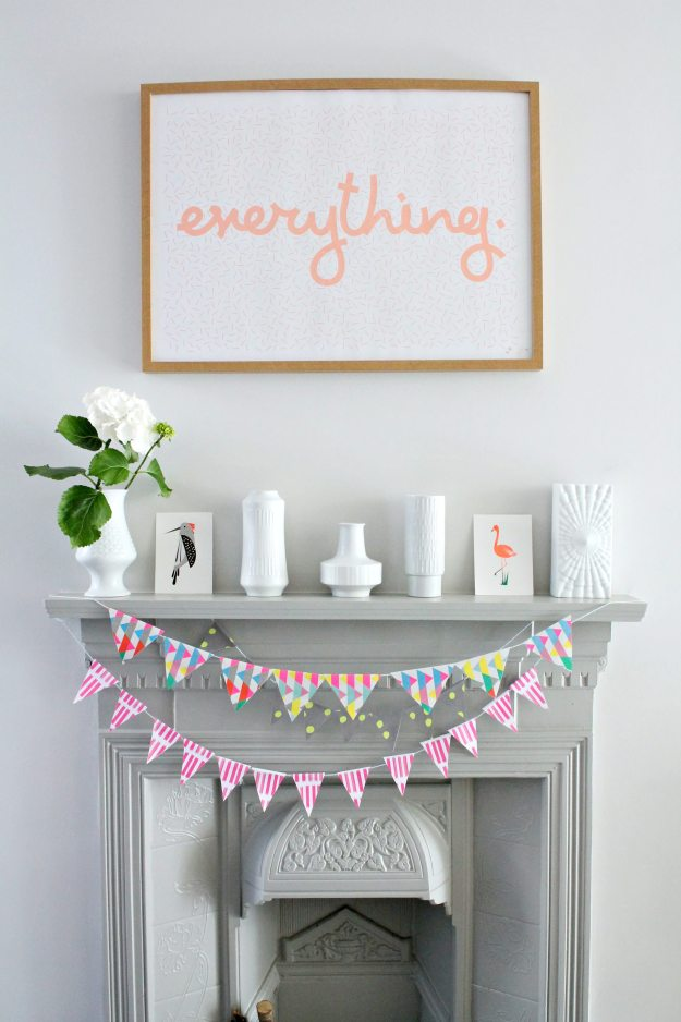Paper -Bunting-from-recycled-wrapping-paper-DIY-for-Moto-Design-school-Little-Big-Bell