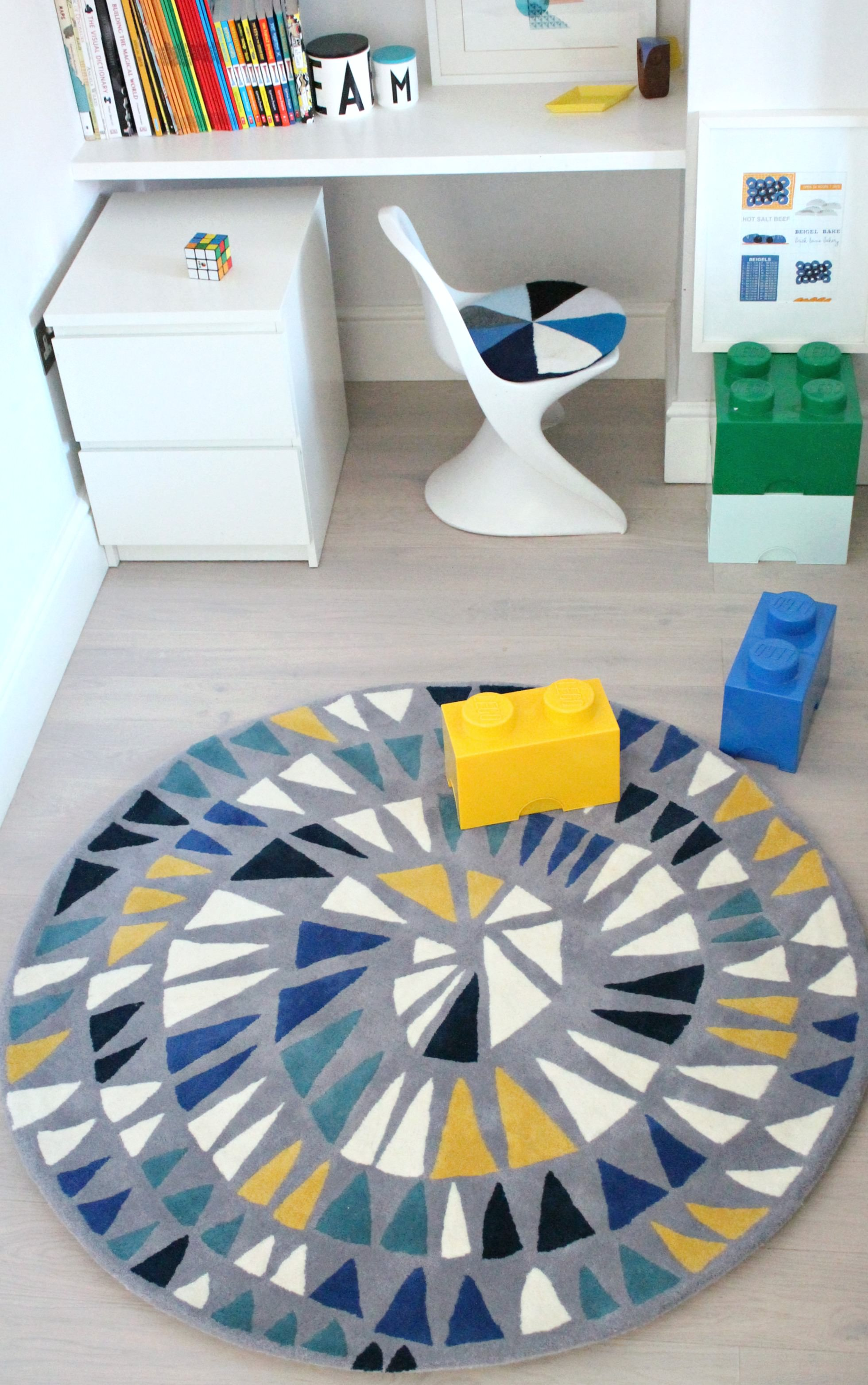 Little P Round And Round Rug Styled And