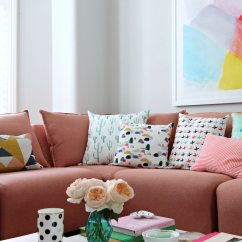New Sofas Dfs Sofa Fabric Protection Spray Littlebigbell How To Style A Pink Sofa. My Coral ...