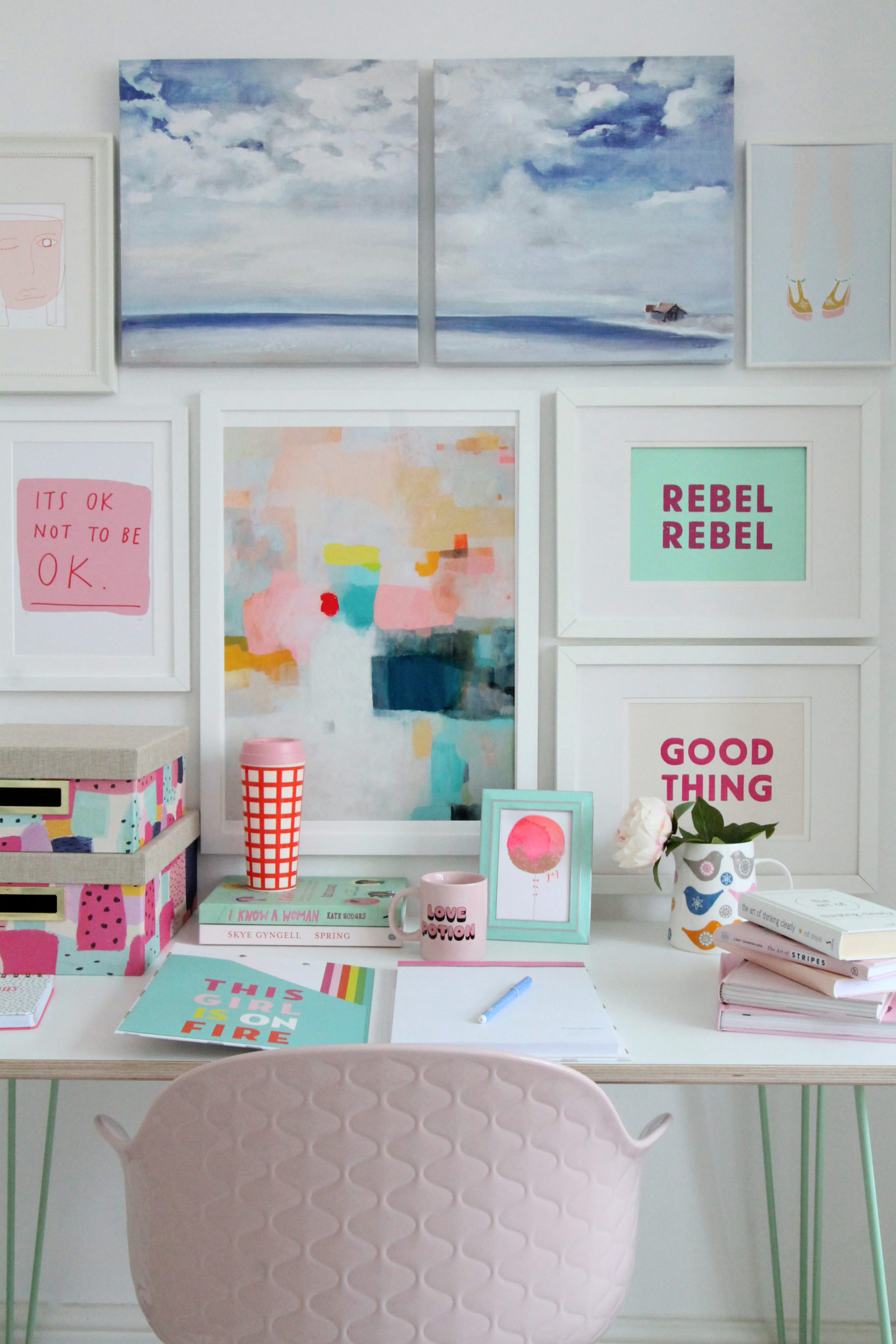 desk ideas office your yeolco decorating work a with pink cubicle decoration cute innovative decor