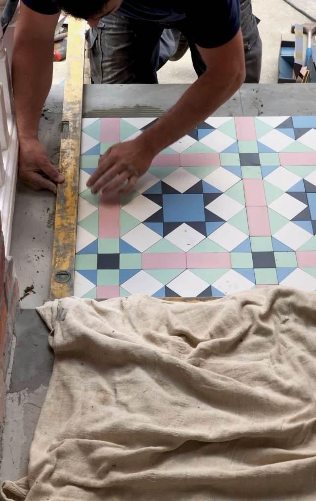 Victorian tiles installation