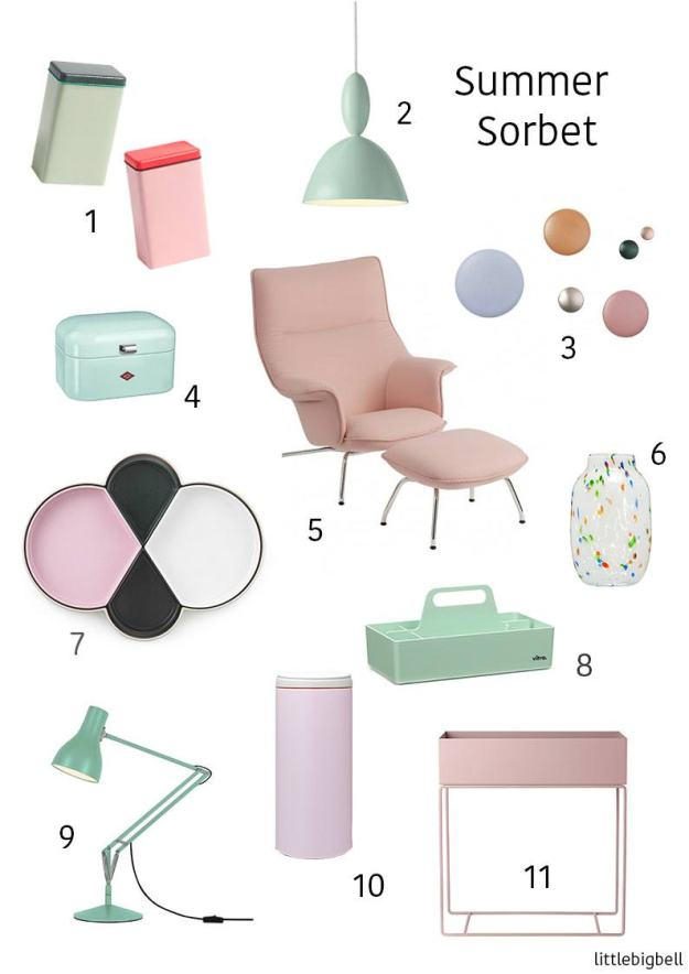 pastel home decor and design