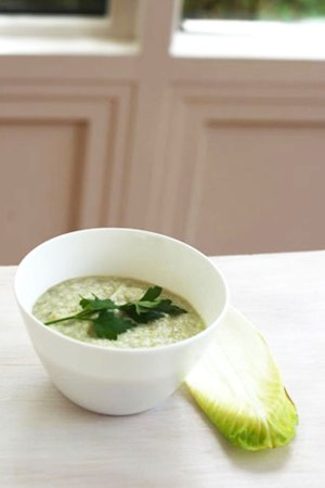 Delicate fish puree with cauliflower and whitlof - perfect for baby