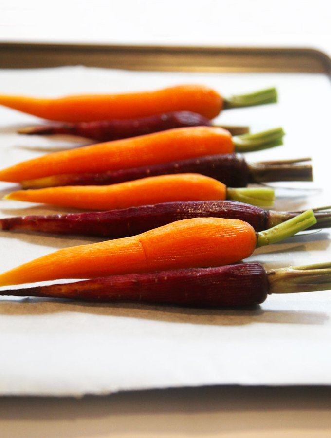 Miso-Maple Roasted Carrots