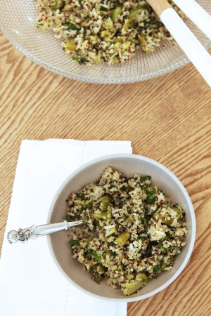 Quinoa Salad - a great big bowl of green goodness