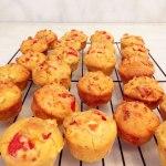 Capsicum tomato and feta muffin