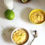 Mango, Pineapple, Lime and Coconut Tapioca
