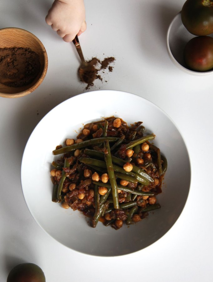 Lebanese Beans with Chickpeas