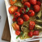 tomatoes with a coriander lime dressing