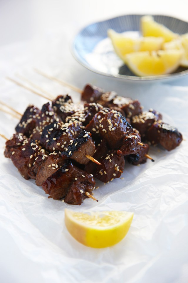beef skewers with asian marinade