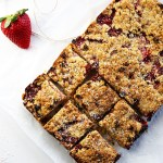 Strawberry and coconut muesli squares