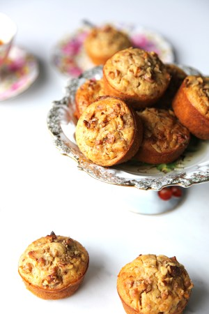 Healthy Carrot and Walnut Muffin - the kids will never know there are two cups of veggies in them!