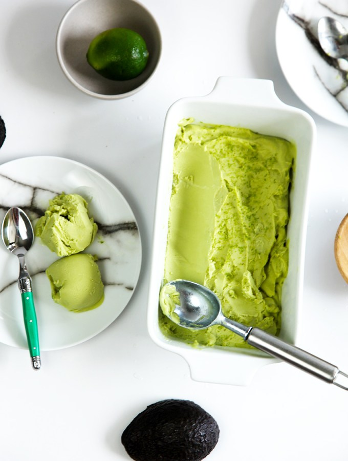 Healthy avocado ice cream. That's right, healthy ice cream. Smooth, creamy and delicious.