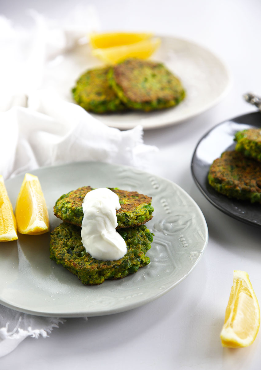 Pea and Broccoli Fritters - perfect for a light dinner or healthy lunch. Also great cold in lunch boxes.