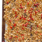 Nut-free Granola with quinoa, seeds and goji. I love this stuff so much that I even put it on top of my ice-cream!