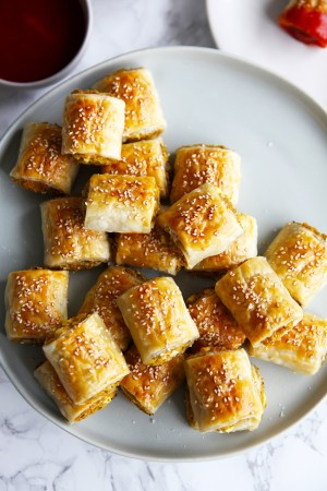 Veggie sausage rolls - super easy to make, they will be loved by young and old
