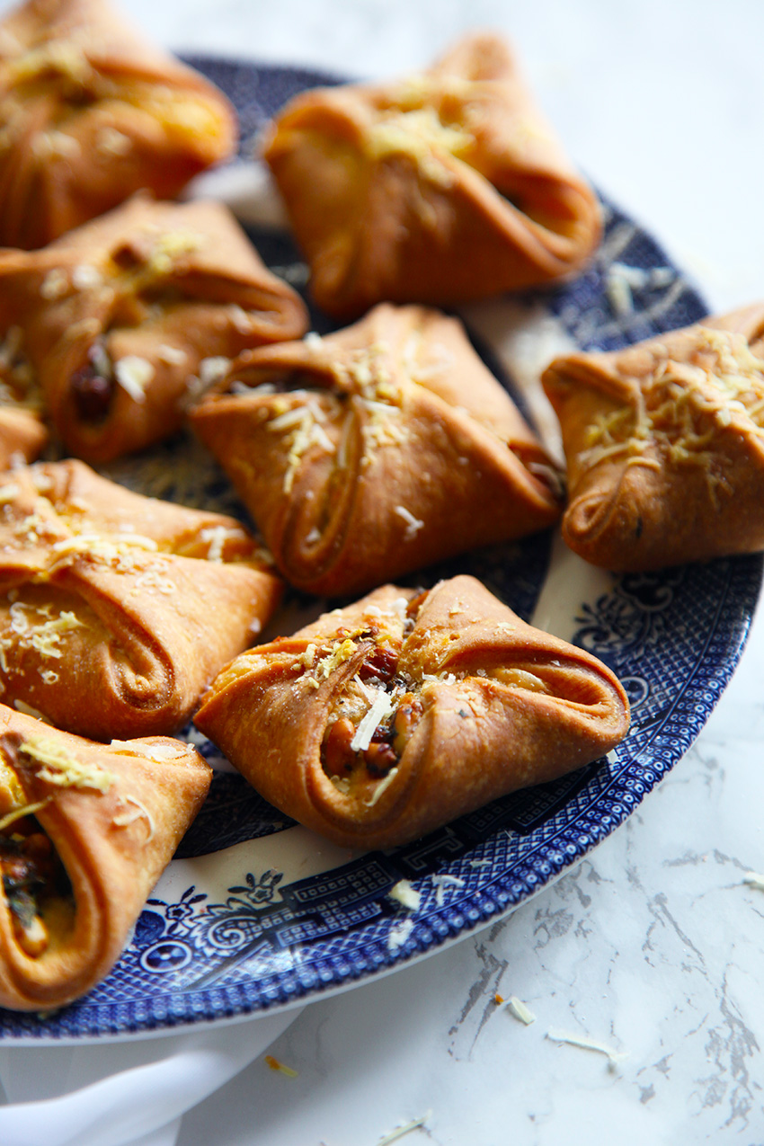 Serve as a starter or as a light lunch - these little pastries are super easy to make and are super adaptable. Make them sweet or savoury!