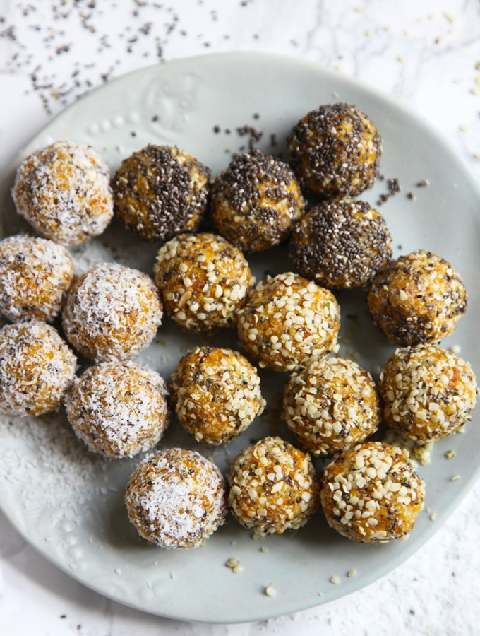 Hemp seed and apricot energy balls - perfect for lunch boxes