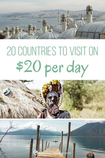 20 countries to visit under $20 per day