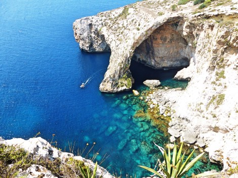 The Blue Grotto neaer Wied iz-Zurrieq is one of Malta's most famous sights.