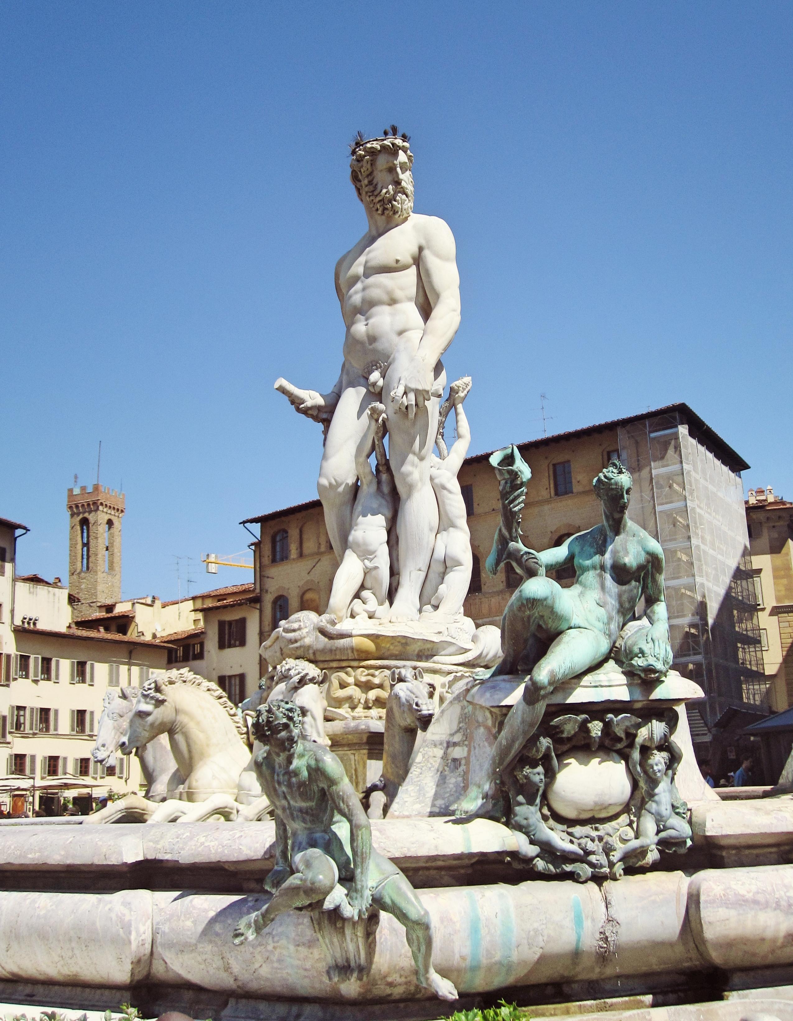 The fountain of Neptune on the Piazza della Signoria
