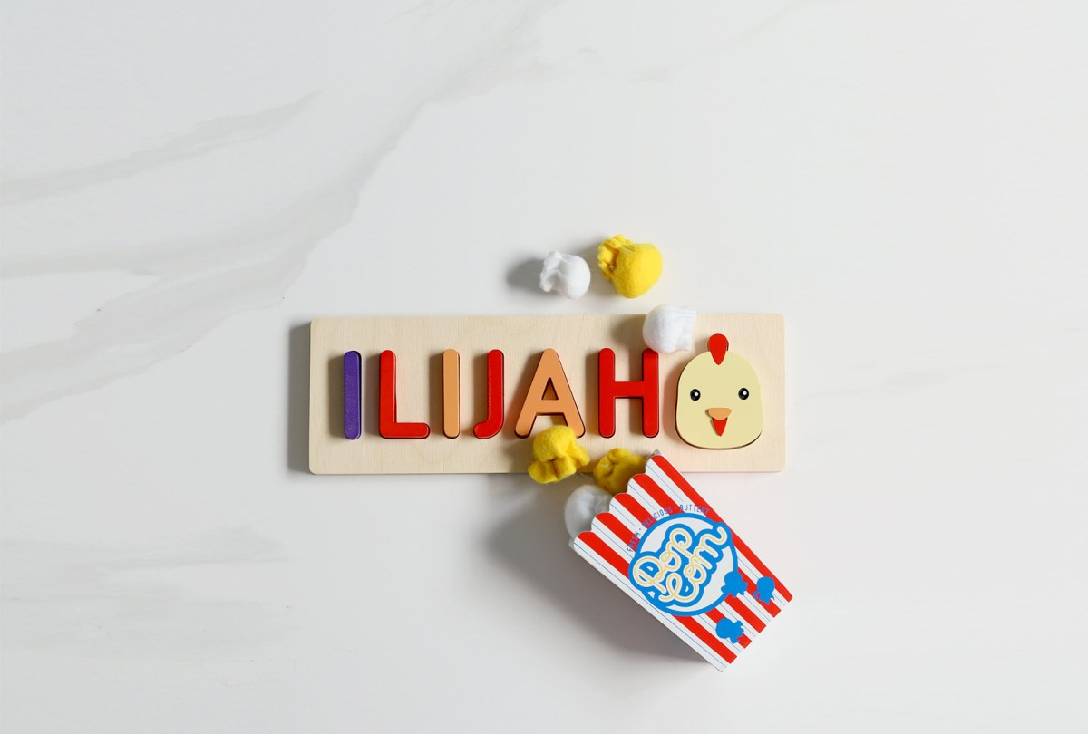 Rooster Wood Name Puzzle
