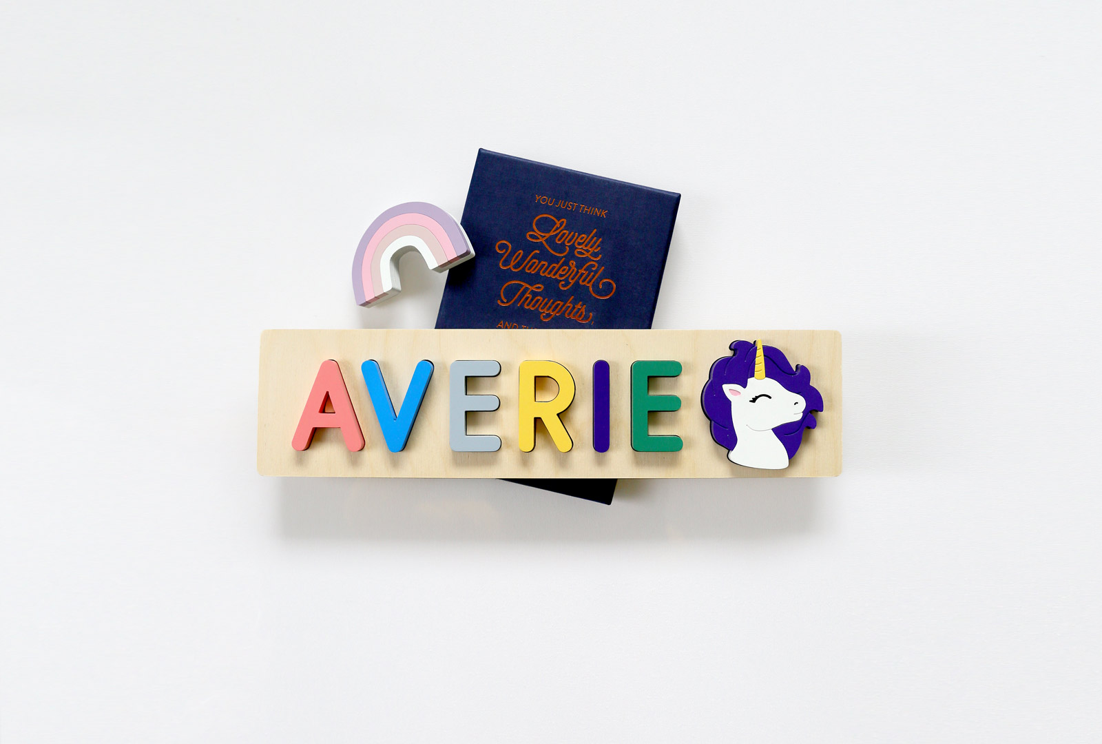 Unicorn Wood Name Puzzle