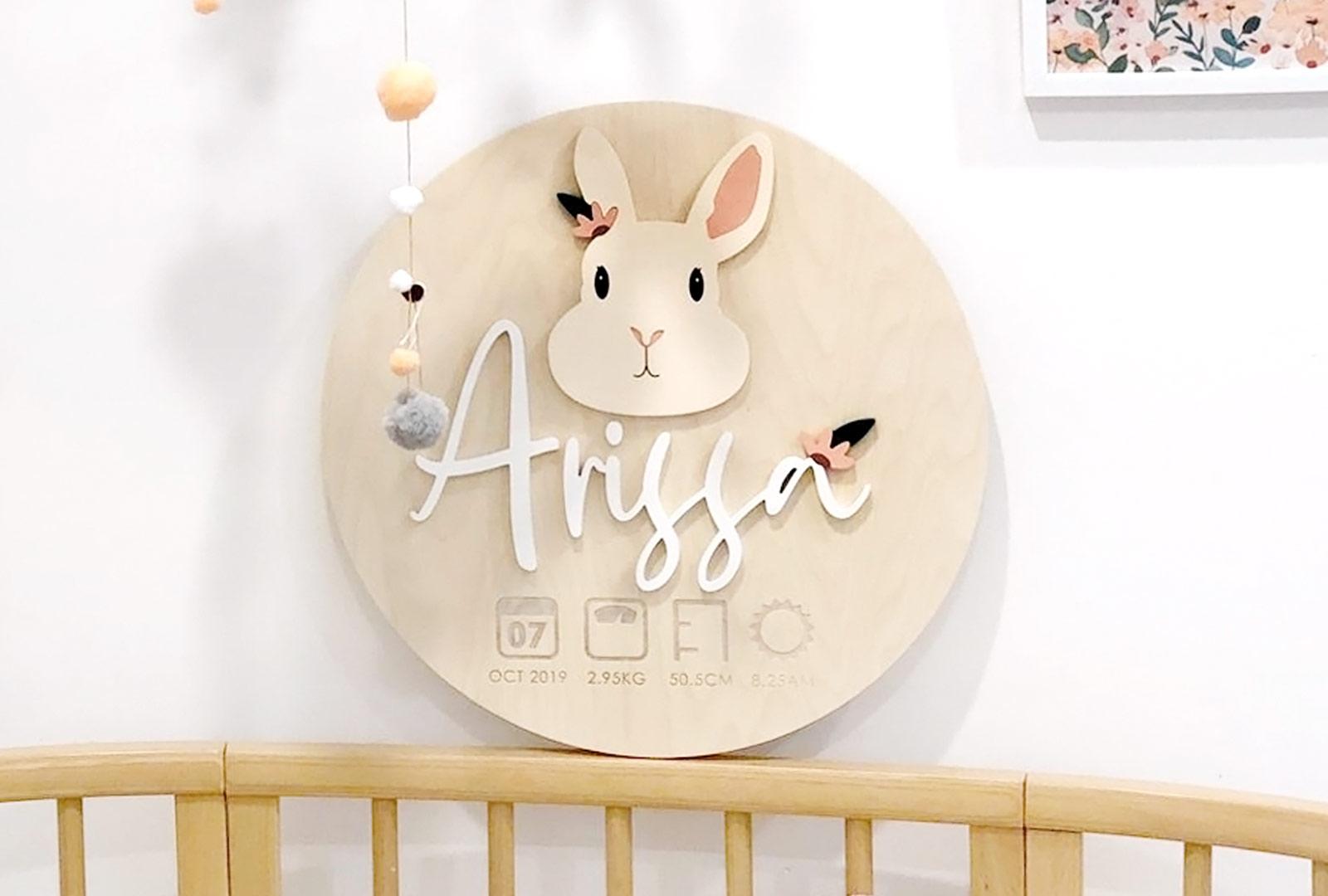 Bunny Birth Plaque